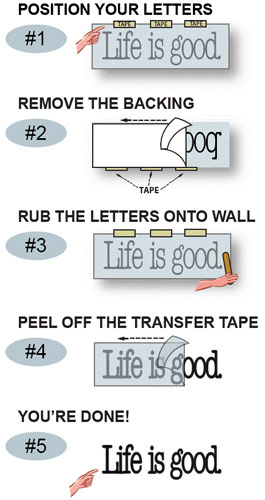 Instructions On How To Put Up A Wall Sticker Custom Vinyl Decals - Instructions on how to put up a wall sticker